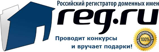 Российский регистратор доменных имен reg.ru проводит конкурсы и вручает подарки