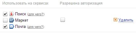 Социальные профили в Яндекс