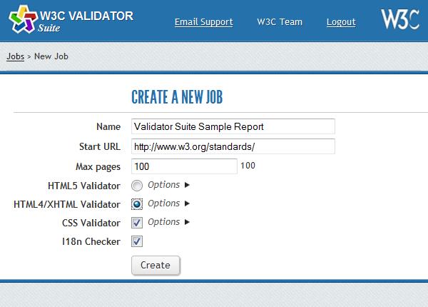 Параметры Validator Suite