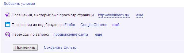 Условия вебвизора