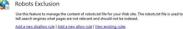 Настройка файла robots.txt Robots Exclusion