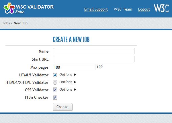 Новая проверка сайта с помощью Validator Suite