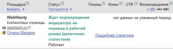 Подтверждение на перевод в рабочий режим