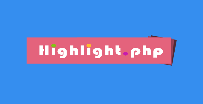 Highlight PHP
